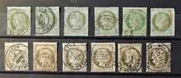 12 - 19 //  France - Lot De Ceres N°50 - 53 - 56 - Tous Avec Cachets Ronds - Cote : 130 Euros - Marcophilie (Timbres Détachés)