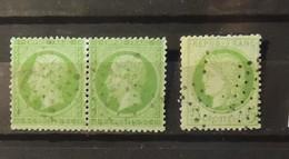 12 - 19 //  France - N° 35 En Paire Avec N° 53 Pour Comparaison De La Couleur Du Papier - Cote : 450 Euros - 1870 Siège De Paris