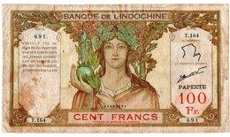 Indochine / Papeete  / 100 Francs / B+ - Indocina