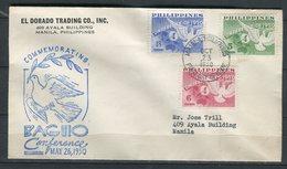 Filipinas 1950. Yvert 368-70 FDC. - Philippines