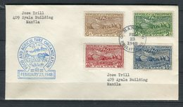 Filipinas 1948. Yvert 341-43 + A 38 FDC. - Philippines