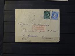 12 - 19 //  France -  Lettre De Castelmoron  à Dest De Lausanne  - Suisse - Juillet 1940 - Tampon Feldpostdirektion 317 - Marcophilie (Lettres)