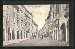 Cartolina Pordenone, Corso V. E., Strassenpartie - Pordenone