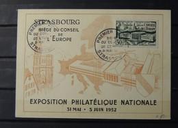 12 - 19 //  France - FDC De L'exposition Philatélique De Strasbourg 1952 - 1950-1959