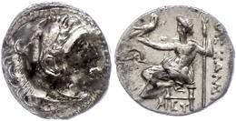 Mylasa, Drachme (4,14g), 336-323 V. Chr., Alexander III. Av: Herakleskopf Mit Löwenfell Nach Rechts. Rev: Thronender Zeu - Antique