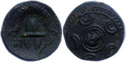 Æ (3,16g), 336-323 V. Chr., Alexander III. Av: Makedonisches Schild, Im Zentrum Herakleskopf. Rev: Helm Und Caduceus. Pr - Antique