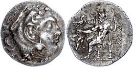 Chios?, Drachme (4,07g), Postum, 290-270 V. Chr., Alexander III. Av: Herakleskopf Mit Löwenfell Nach Rechts. Rev: Throne - Antique
