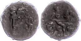 Larissa, Ae (5,66g), Ca. 3. Jahrhundert V. Chr. Av: Kopf Der Nymphe Larissa In 3/4 Ansicht. Rev: Reiter Mit Lanze Nach L - Antique