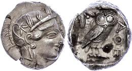Athen, Tetradrachme (17,12g), Ca. 415 V. Chr., Av: Athenekopf Mit Attischem Helm Nach Rechts, Rev: Eule Nach Rechts, Dah - Antique