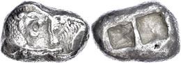 Stater (10,47g), 561-546 V. Chr., Kroisos, Sardeis. Av: Löwen Und Stierprotome Einander Gegenüber. Rev: Zwei Quadratisch - Antique