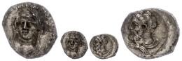 Obol (0,75g), Ca. 4. Jahrhundert V. Chr. Av: Büste Des Herakles Nach Links. Rev: Weibliche Frontalbüste Mit Langem Schle - Antique