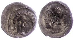 Tarsos, Obol (0,80g), 4. Jahrhundert V. Chr., Zeit Des Pharnabazos Und Datames. Av: Weiblicher Kopf Von Vorn. Rev: Bärti - Antique