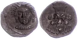 Unbestimmte Münzstätte, Obol (0,74g), Ca. 4. Jahrhundert V. Chr. Av: Weiblicher Kopf Von Vorn. Rev: Kopf Des Bes Von Vor - Antique