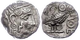 Sabäer, Drachme (4,79g), Ca. 3. Jahrhundert  V. Chr.. Av: Athenakopf Mit Attischem Helm Nach Rechts. Rev: Stehende Eule  - Antique