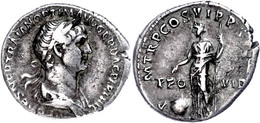 Trajanus, 98-117, Dinar (2,68g), Rom. Av: Büste Nach Rechts, Darum Umschrift. Rev: Stehende Providentia Nach Links, Zu I - Roman