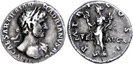 Hadrianus, 117-138, Dinar (3,33g), Rom. Av: Büste Nach Rechts, Darum Umschrift. Rev: Stehende Felicitas Nach Rechts, Dar - Roman