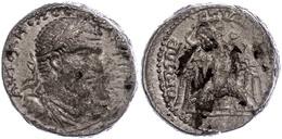 Byblus, Tetradrachme (16,65g), Macrinus, 217-218, Av: Büste Nach Rechts, Darum Umschrift, Rev: Adler Nach Links Blickend - 3. Province