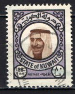 KUWAIT - 1977 - Sheik Sabah - VALORE DA 80 FILS - USATO - Kuwait