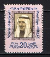 KUWAIT - 1975 - Sheik Sabah - VALORE DA 20 FILS - USATO - Kuwait