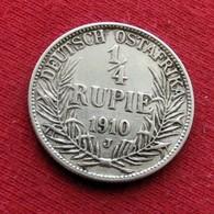 East Germany Africa 1/4 Rupie 1910 J  Tanzania DOA Allemagne De L'Est Afrique Tanzanie - Afrique De L'Allemagne De L'Est