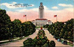 Texas Austin University Avenue And University Of Texas Tower - Austin