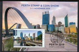 AUSTRALIA, 2019 PERTH STAMP/COIN SHOW MINISHEET MNH - 2010-... Elizabeth II
