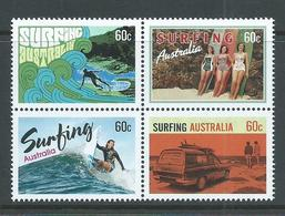 Australia 2013 Surfing Set Of 4 Block Format MNH - Mint Stamps