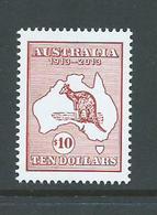 Australia 2013 $10 Kangaroo & Map Single MNH - 2010-... Elizabeth II