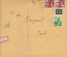 GG Einschreiben Rowne/Dukla An Bergamt Jaslo, Portogerecht 2. Gew. Stufe, MiF - Besetzungen 1938-45