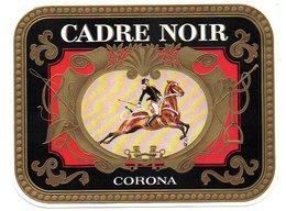 Etiquette De Boîte à Cigares, Lithographiée, Litho CADRE NOIR - CORONA. - Etichette