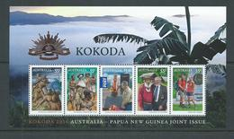 Australia 2010 WWII Kokoda Trail Joint Issue With PNG Miniature Sheet MNH - 2010-... Elizabeth II