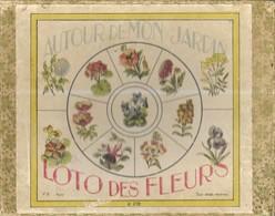 JEUX ANCIEN DEBUT 1900, AUTOUR DE MON JARDIN, LE LOTO DES FLEURS, COMPLET, ACHETE AU MAGASIN A SAINT NICOLAS LILLE, - Jeux De Société