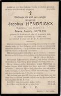 Austruweel, 1911, Jacobus Hendrickx, Kuylen - Devotieprenten