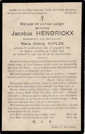 Austruweel, 1911, Jacobus Hendrickx, Kuylen - Images Religieuses