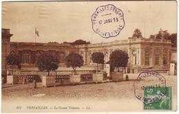Cachet TEEGRAPHIQUE VERSAILLES CONGRES Election Presidentielle Du 17 Janvier 1913 , 5 C Semeuse N° 137 - Postmark Collection (Covers)