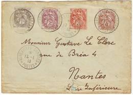 Cachet VERSAILLES CONGRES Election Presidentielle Du 17 Janvier 1913 , Type BLANC Sur Lettre - 1877-1920: Période Semi Moderne