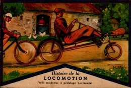 HISTOIRE DE LA LOCOMOTION...LA BICYCLETTE A PEDALAGE HORIZONTAL - Histoire