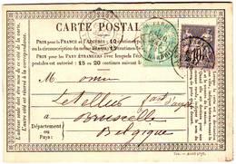 Sage Carte Precurseur Pour La BELGIQUE , TTB - Poststempel (Briefe)