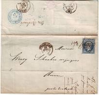 RARE Cachet REBUTS DES NON VALEURS Sur Lettre En Poste Restante NON RETIREE 28 Sept 1863 - 1849-1876: Classic Period