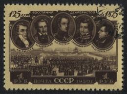 Russia / Sowjetunion 1950 - Mi-Nr. 1539 Gest / Used - Dekabristen - 1923-1991 UdSSR