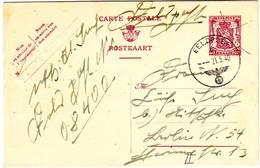 ENTIER Carte Obl MILITAIRE ALLEMANDE FELDPOST 21 Mai 1940 Circulee , RARE Et TTB ... Lettre - Belgique