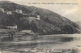 Le Pertuiset (Loire) Hôtel Des Bains Bayon - Cliché Bernard J.B.E., Carte N° 10 Non Circulée (Menu) - Frankrijk