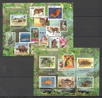BC802 2010 S.TOME E PRINCIPE FAUNA WWF POSTAL HISTORY SELOS EM SELOS 1KB+1BL MNH - W.W.F.