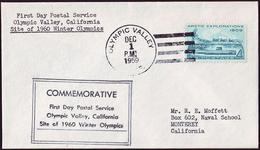 USA - 1960 A - Winter Olympic Games 1960 - Letter - Inverno1960: Squaw Valley