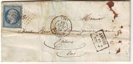 Cachet Fabrication Locale APRES LE DEPART à FLEURONS Lettre De Moissac Lot Et Garonne 1861 - 1849-1876: Période Classique