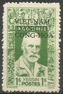 Vietnam - 1946 Dr Yersin Overprint 1$ Unused No Gum (as Issued)   Sc 1L1 - Vietnam