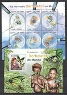 BC818 2010 S.TOME E PRINCIPE BORBOLETAS DO MUNDO BUTTERFLIES INSECTS 1KB+1BL MNH - Schmetterlinge