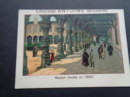 Chromo ( 594 )   Publicité  Reclame  -  Chocolade  Chocolat ANTOINE  Bruxelles  Brussel  - Liège  Luik - Andere