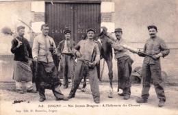 89 - Yonne - JOIGNY - Nos Joyeux Dragons - A L Infirmerie Des Chevaux - Militaria - Joigny