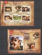 BC827 2010 S.TOME E PRINCIPE ART PETER PAUL RUBENS 1BL+1KB MNH - Rubens